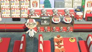 KFC-ร่วมเปิดสาขาใหม่ใน-Animal-Crossing